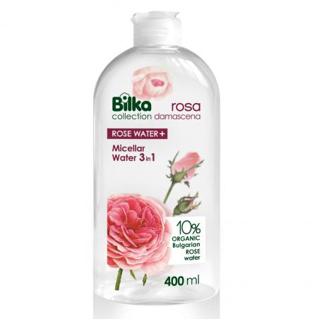 Bilka Rosa Damascena Agua Micelar 3 en 1 con Agua de Rosa 400ml